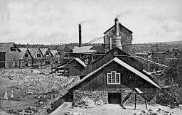 True i Ställdalen.   Anlagt i slutningen af 1700-tallet og omkuldblæst i 1919.