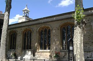 Lieutenant of the Tower of London - St. Peter ad Vincula, a chapel on Tower Green, is the resting place of several of the Lieutenants of the Tower.