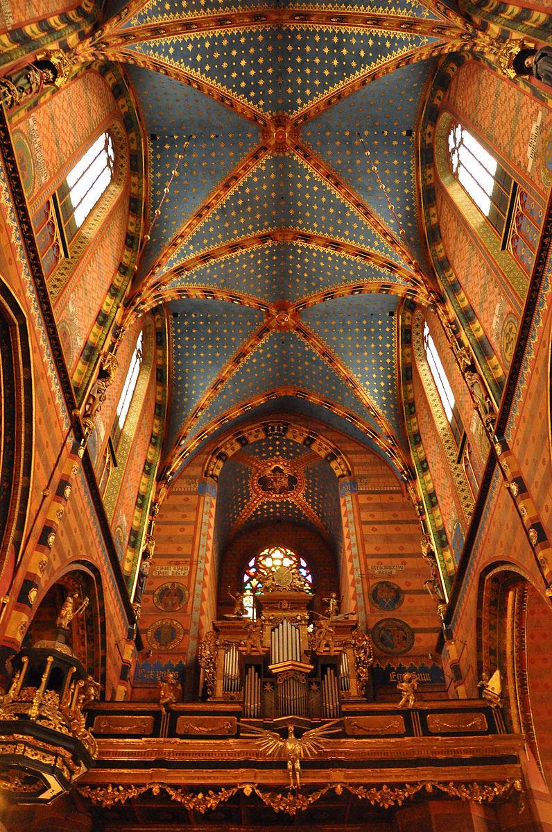 Sklepienie kościoła Mariackiego w Krakowie.