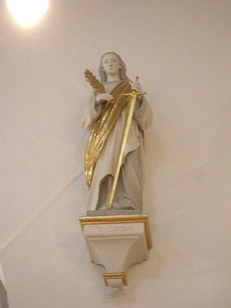 Regina (martyr) - Statue of St. Regina at church dedicated to her at Drensteinfurt.