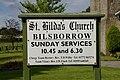 St Hilda's Church, Bilsborrow, Sign - geograph.org.uk - 619480.jpg
