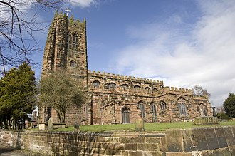 St Mary and All Saints' Church, Great Budworth - Image: St Mary and All Saints Church, Exterior 2