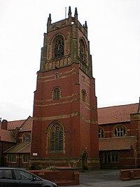 St Thomas' Parish Church, St Annes on the Sea, Tower - geograph.org.uk - 1199412.jpg