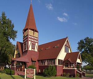 Richard M. Upjohn - St. James Episcopal Church (1855) in La Grange, Texas