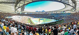 Maracanã Stadium - Panorama from inside the stadium during the closing ceremony of the 2014 FIFA World Cup