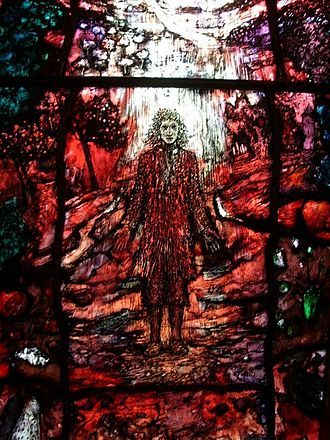Thomas Traherne - One of the four Traherne Windows in Audley Chapel, Hereford Cathedral, created by stained-glass artist Tom Denny