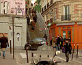Stair in Montmartre, Rue Drevet, Paris 25 November 2012.jpg