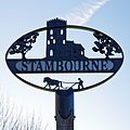 Stambourne village sign, Essex, England 02.jpg