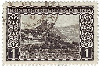 Postage stamps and postal history of Bosnia and Herzegovina - Image: Stamp Austria Bosnien 29