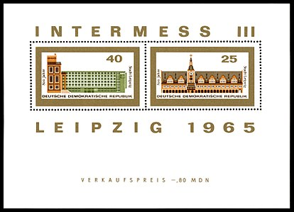 Briefmarken Jahrgang 1965 Der Deutschen Post Der Ddr Wikipedia