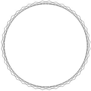 Tetracontagon - Image: Star polygon 40 5