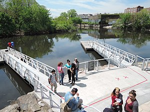 Starlight Park - Boat dock on opening day