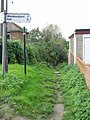 Start of the footpath at the end of Mill Lane - geograph.org.uk - 602811.jpg