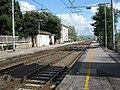 Stazione di Bolgheri, Vista piazzale del ferro dal binario 2 lato Nord.JPG