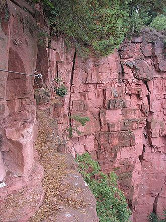 Breuberg - Climbing path in a quarry in Breuberg-Hainstadt