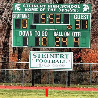 Steinert High School - Scoreboard located at the Steinert High School football field.