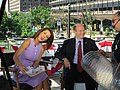 Stephanie Ruhle sticks out tongue while interviewing Chris Coons.jpg
