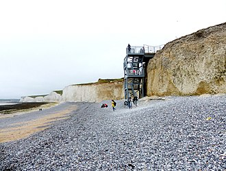 East Dean and Friston - Steps to Birling Gap beach (June 2018)
