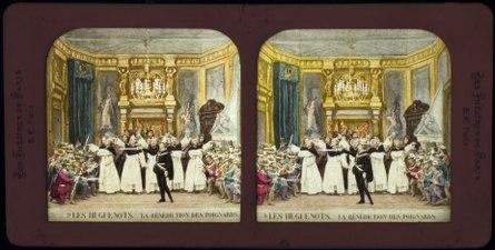 Stereokort, Les Huguenots 9, La bénédiction des poignards - SMV - S57b.tif