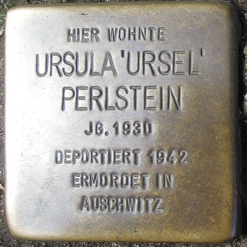 Stolperstein Dorsten Essener Straße 18-20 Ursula Perlstein.jpg