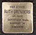 Stolperstein Fehrbelliner Str 22 (Mitte) Ruth Grünberg.jpg