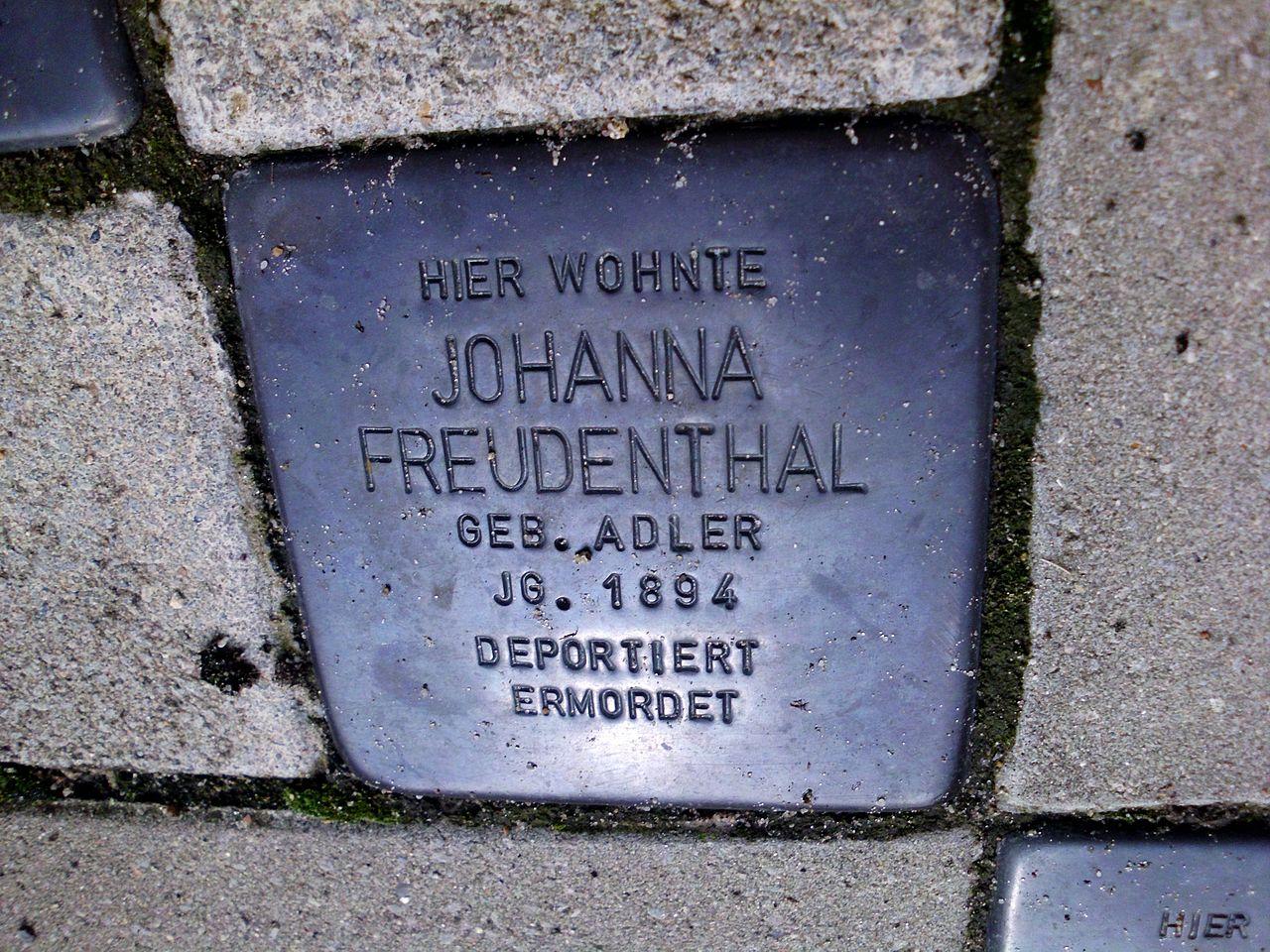 Stolperstein Johanna Freudenthal.JPG