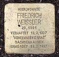 Stolperstein Meiningenallee 7 (Westend) Friedrich Weißler.jpg