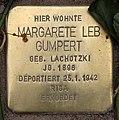 Stolperstein Pariser Str 11 (Wilmd) Margarete Leb Gumpert.jpg