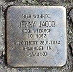 Stolperstein Richard-Sorge-Str 34 (Frhai) Jenny Jacob.jpg