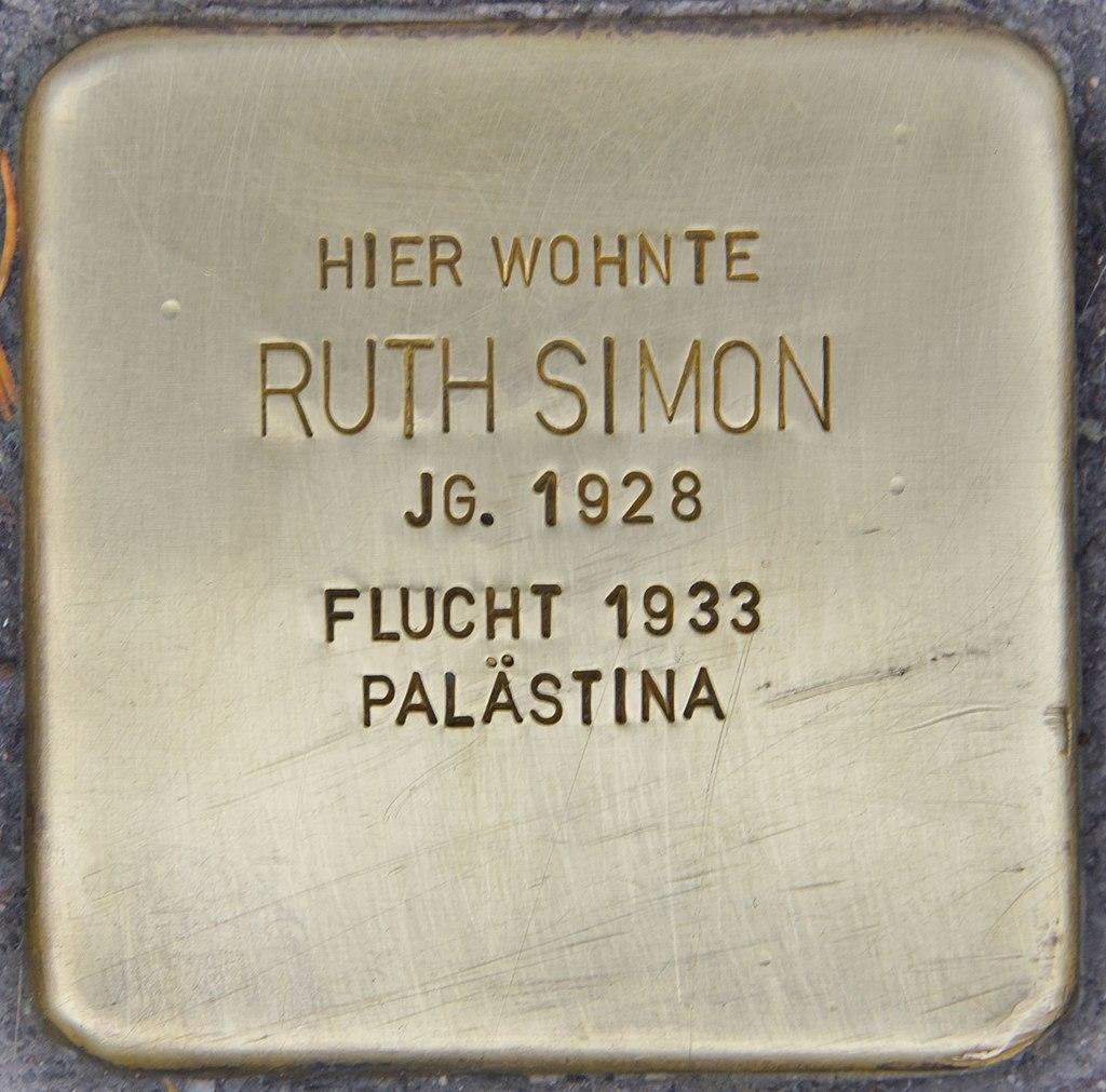 Stolperstein für Ruth Simon (Heidelberg).jpg