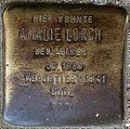 Stumbling block for Amalie Lorch (Alteburger Straße 11)