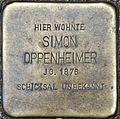 Stolpersteine Köln Simon Oppenheimer Elsaßstraße 39.jpg