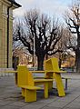 Street furniture at a Würstelstand 02, Schönbrunn.jpg