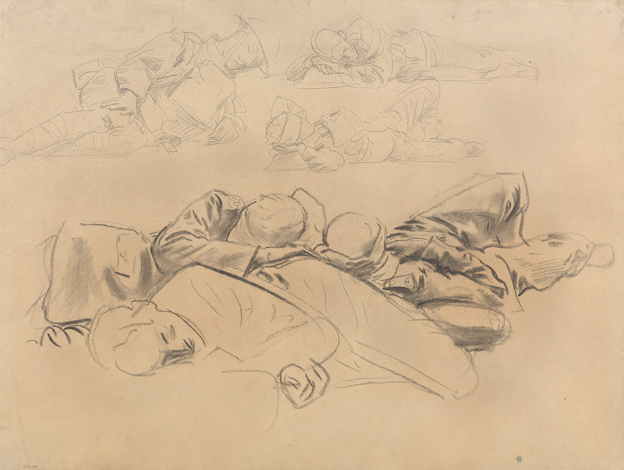 Study for Gassed Soldiers by John Singer Sargent 1918.jpg
