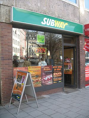 Subway in Munich at Rindermarkt
