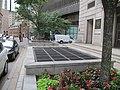 Subway vent grates at former Court Street station stairwells, August 2016.JPG