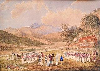 treaty between  East India Company and King of Nepal