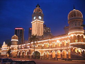 Sultan Abdul Samad Building - Sultan Abdul Samad Building at night on National Day