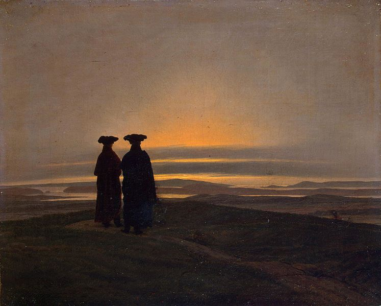 File:Sunset by Caspar David Friedrich.jpg