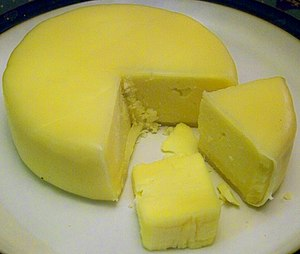 English: Swaledale cows milk cheese made in Sw...