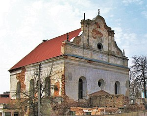 Slonim (Hasidic dynasty) - Derelict synagogue in Slonim