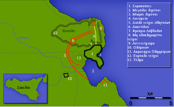 Αποτέλεσμα εικόνας για συρακουσες χαρτης