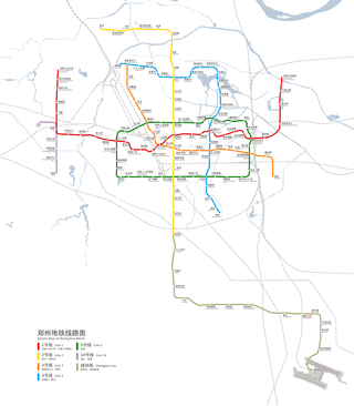 Zhengzhou Metro rapid transit metro rail network in Zhengzhou, Henan, China