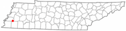 Location of Mason, Tennessee