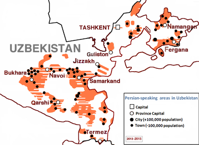 Map depicting Persian speakers in Uzbekistan Tajiks of Uzbekistan.PNG