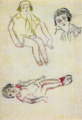 TakehisaYumeji-1931-Sketch in Foreign Travel Three Poses of Girls.png
