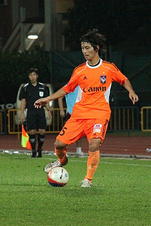 Takeshi Ito - Takeshi Ito playing against Hougang United in an S.League fixture at Hougang Stadium on 13 April 2012.