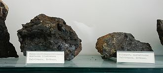 Ahtium - Iron-nickel sulfide-bearing black schist ore samples from Talvivaara.