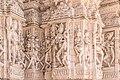 Taranga Jain temple - Wall carvings.jpg