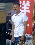 Taro Yamamoto - front - tokyo station - July 6 2016.jpg